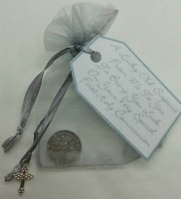 First Holy Communion Lucky Sixpence **keepsake Gift **3 Colours** • 2.75£