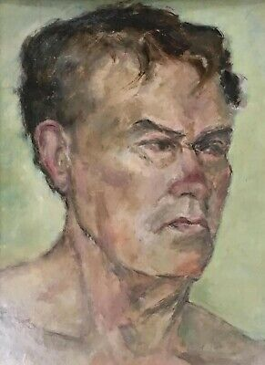 Bloomsbury School Style Oil On Board Portrait Of A Young Man  20th Century • 225£