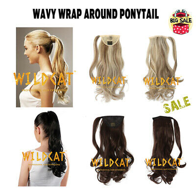 £4.99 • Buy CLEARANCE Wrap Around Ponytail Clip In Hair Extensions Ombre Wavy & Curly