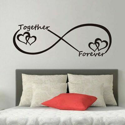 LOVE Heart Together Forever Bedroom Wall Sticker For Home Decoration Wall Decal • 6.69£