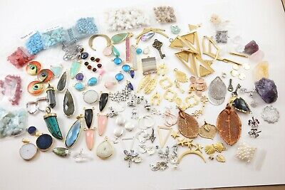 $ CDN108.86 • Buy 150+Pc.MIXED JEWLERY-LOT~STERLING/VERMEIL/BRASS/GEMSTONES/CHARMS/PENDANTS