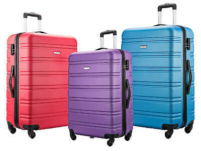 £27.99 • Buy 55X40X20 4 Wheel EASYJET BA JET 2 CABIN HAND LUGGAGE SUITCASE CARRY ON CASE BAG