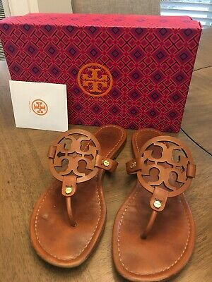 9b5f76cf0 Tory Burch Miller Brown Leather Thong Sandal Flip Flop 9 • 89.00