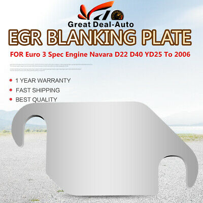 AU6 • Buy EGR Blanking Plate For Nissan Navara D22 D40 YD25 Euro 3 Spec Engine To 2006