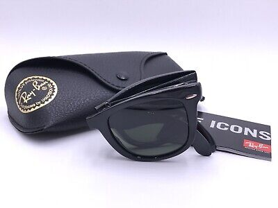 2585ea9a9e Ray Ban RB4105 601 58 WAYFARER FOLDING Black POLARIZED AUTHENTIC Italy 50mm  • 75.00