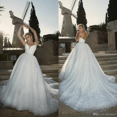 $ CDN182.75 • Buy Elegant A Line Wedding Dresses Sweet Lace Sequined Detachable Tulle Bridal Gown
