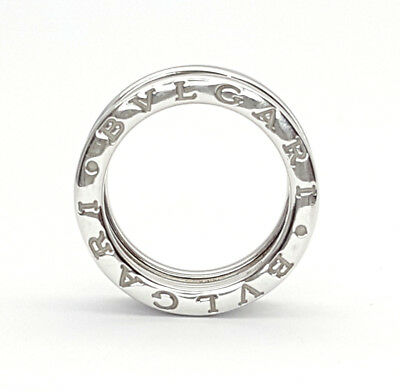 AU1759 • Buy Genuine BVLGARI Ladies 18ct (750, 18K) White Gold Ring B-zero 1 Band