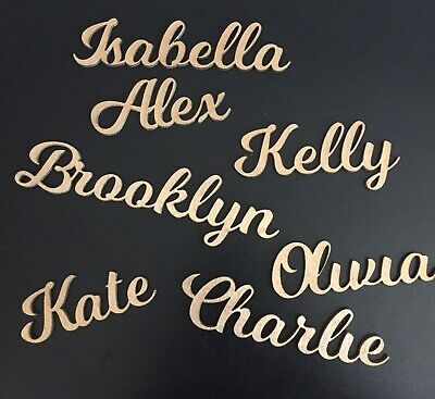 Wooden Place Names Wedding/Party Favours • 1.25£
