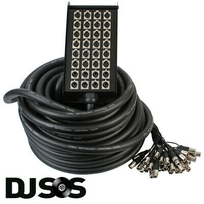 Pulse PLS00321 XLR Multicore Stagebox Snake - 30m 24 Inputs / 8 Outputs • 229£