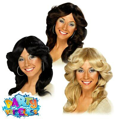 Ladies 70s Flick Wig Farrah Fawcett Charlies Angels Fancy Dress Outfit Accessory • 8.29£