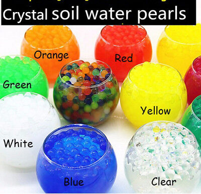 AU5.99 • Buy 125g Water Crystal  Balls Jelly Gel Beads For Plants Orbeez Multi Color 13-15mm