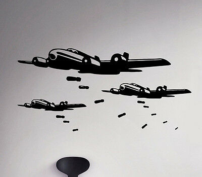 $26.99 • Buy Military Aircraft Wall Decal Air Force Vinyl Sticker Army Home Art Decor 57(nse)