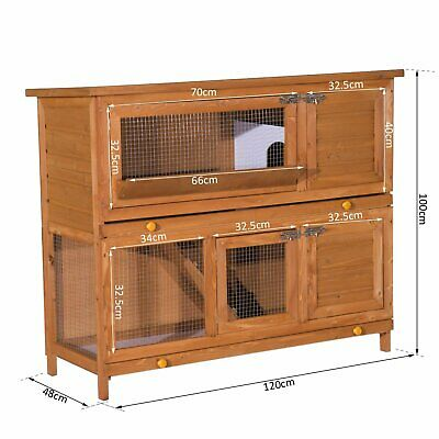 £155 • Buy Wooden Chicken Coop Rabbit Hutch Poultry Cage Backyard Pet House  Double Decker