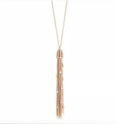 $76 • Buy $150 Alexis Bittar Rose Gold Tassel Pendant Necklace