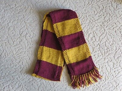 $ CDN31.13 • Buy Harry Potter Scarf  First Year Gryffindor School Colors Scarf-  Hand Knit