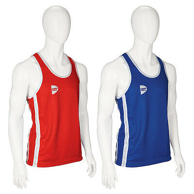 £13.34 • Buy Tank Top Mens Boxing Blue Red Elite GREEN HILL Boxing Vest