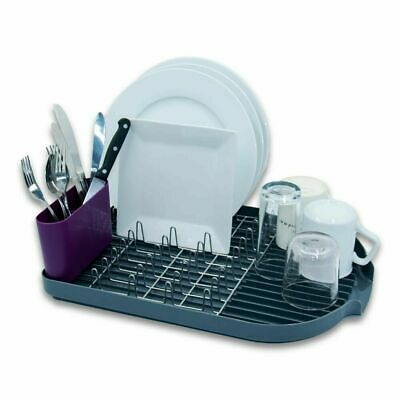 Calitek Dish Rack Drainer With Removable Drip Tray And Cutlery Holder • 11.95£