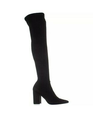 f6b94ab7e37 Steve Madden Rational Pointed Toe Over The Knee Boots Black 7 US NEW IN BOX  •