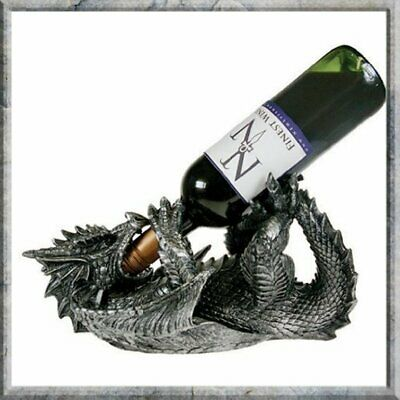 Guzzler Dragon Wine Bottle Holder Ornament Statue For The Gothic Table • 24.95£