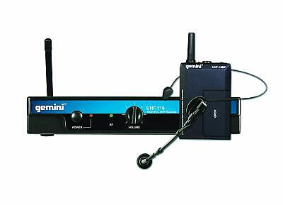 Gemini UHF116HL Headset And Lavalier Wireless Microphone System • 85£