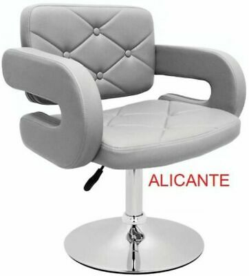 £71.95 • Buy Grey Leather Style Hairdresser/barber Swivel Chair Beauty Salon Furniture