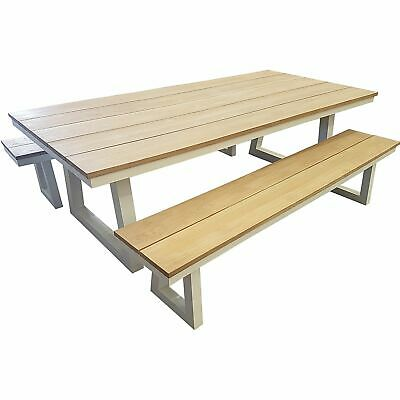 AU1699 • Buy Chile 3 Piece Bench And Dining Setting Outdoor