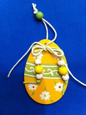 £3 • Buy Hanging Easter Decoration - Painted Egg (four Colour Options)