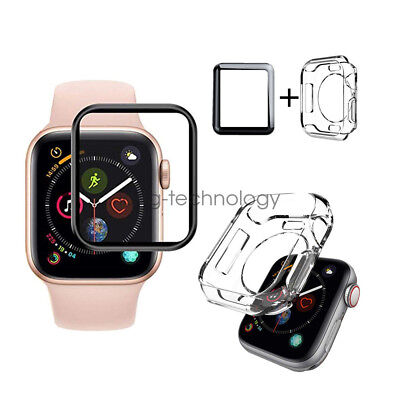 AU15.99 • Buy Full Cover Screen Protector & TPU Case For Apple Watch Series 5 4 3 42mm 40/44mm