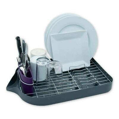 Calitek Chrome Dish Drainer Rack With Drip Tray And Cutlery Holder • 12.95£