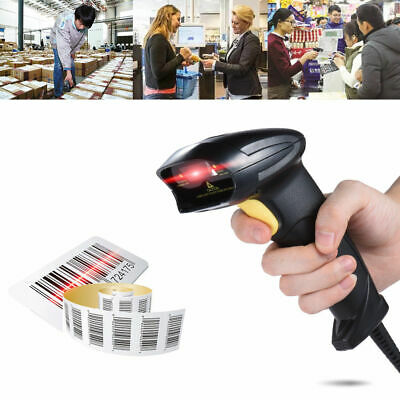 £23.99 • Buy Laser Barcode Scanner USB Handheld Automatic Bar Code Reader Scan POS With Stand