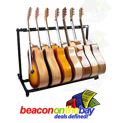 AU84.99 • Buy 7 Guitar Stand Display Rack Holder For Electric Acoustic Bass Guitars