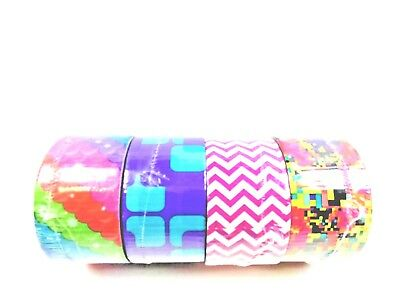 $17.95 • Buy Scotch Duct Tape Lot Of 4, Assorted Prints And Designs, 1.88x10 Yards Each Roll