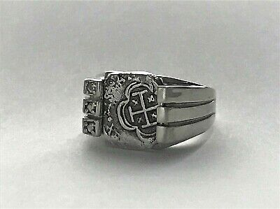 ATOCHA Coin Ring 925 Sterling Silver Sunken Treasure Shipwreck Jewelry • 110$