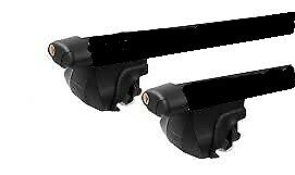 AU136 • Buy 2x BLACK CROSS BAR ROOF RACK For Suzuki Jimny 1999 - 2018 Clamp To Raised Rail