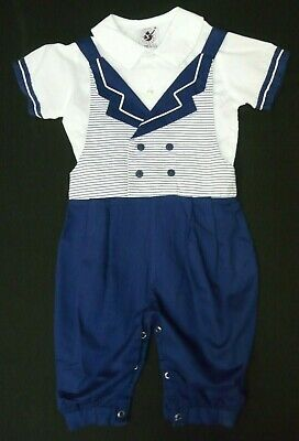 048a3f269 Vintage Good Lad Boys 2 Piece 24 Month Sailor Suit Nautical Blue White •  15.88$