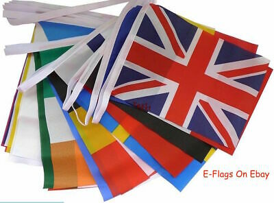 £14.99 • Buy 20 Metres 56 Flags 28 Nations Europe Eurovision Party Bunting SPEEDY DELIVERY