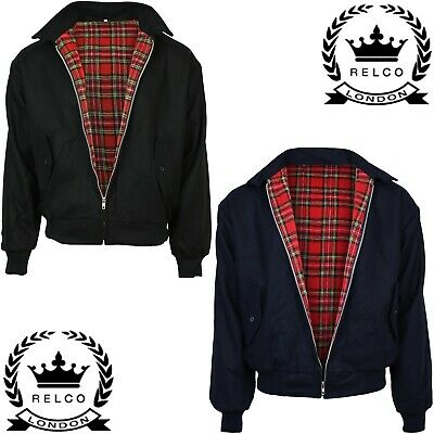 Relco Wool Harrington Jacket Skinhead Mod Scooter Ska Northern Soul Black Navy • 36.99£