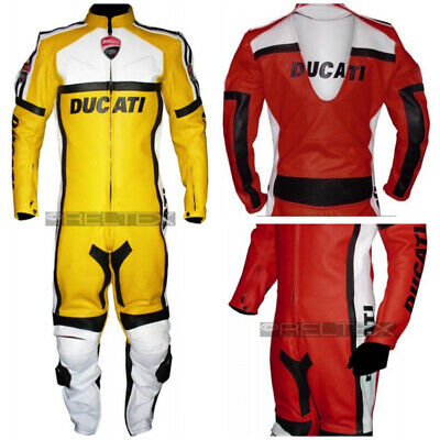 $477.56 • Buy Duke Super Sport Classic Red Or Yellow Motorcycle 1 Pc Biker Suit Race Leathers