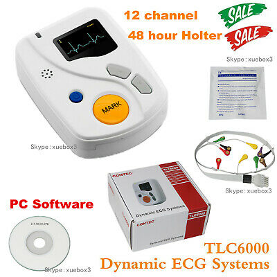 £366.66 • Buy CONTEC TLC6000 ECG Holter Monitor 12-channel ECG Recorder,+Software Analysis 48h