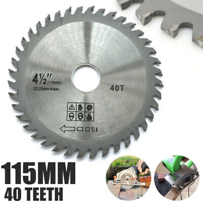 £2.99 • Buy 115mm 40T-Mill Chain Circular Saw Blade Disc Bore Wood Cutting For Angle Grinder