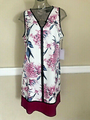 $ CDN45.56 • Buy IVANKA TRUMP Floral Print Chiffon Dress Sleeveless Sz 12 NWT$128 ID8G2GXP