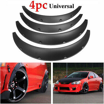 $27.51 • Buy Universal 4 Piece Fender Flares Car SUV Wide Body Wheel Arches Flexible Durable