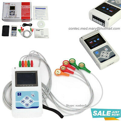 £232.27 • Buy Portable 3-Channel ECG EKG Holter Analyze System Recorder Software Monitor 24H