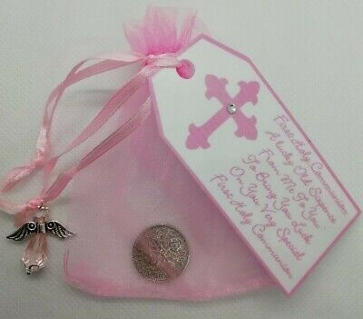 First Holy Communion **lucky Sixpence **keepsake Gift **4 Colours** • 2.75£