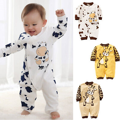 UK Stock Newborn Baby Girl Boy Clothes Romper Bodysuit Jumpsuit Outfit One-piece • 6.99£