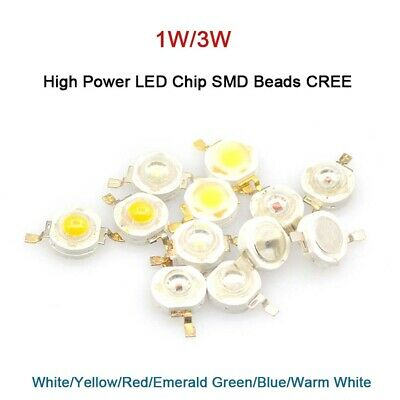 AU2.63 • Buy 1W / 3W High Power Ultra Bright Diffused LED Chip SMD Beads CREE 6 Colors