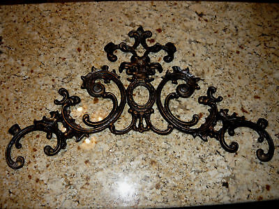 26 Inches, Topper, Wall Plaque, Wall Decor, Old World, Metal Art, Pediment, New • 88.62£