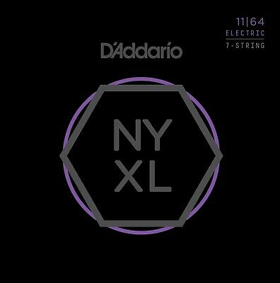 AU20.58 • Buy D'Addario NYXL1164  7-String 11-64 Electric Guitar Strings Medium