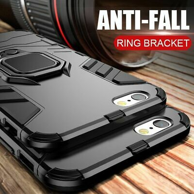 AU11.25 • Buy Shockproof Armor Stand Case For Iphone 5 6 7 8 Plus X Plus SE With Holder Ring
