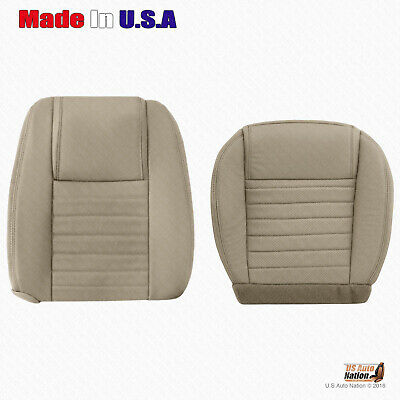 $342.49 • Buy 2005 2006 2007 2008 2009 Ford Mustang DRIVER Bottom-Top Leather Seat Cover  TAN